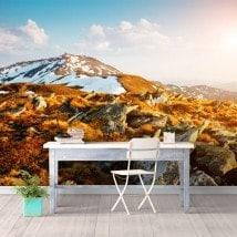 Peintures murales photo neige montagne
