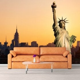 Photo mur murales statue de la liberté New York