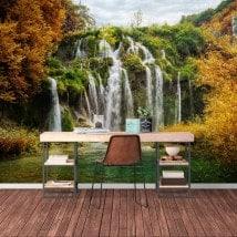 Montagnes de cascades photo mur murales