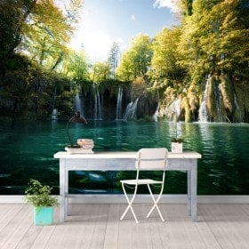 Photo mur murales chutes d'eau des lacs de Plitvice