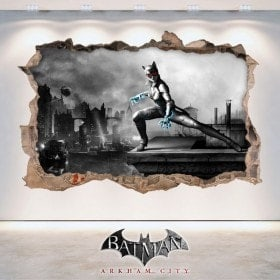 Vinyle et autocollants 3D Batman Arkham City
