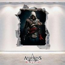 Drapeau de noir vinyle décoratifs 3D Assassin Creed