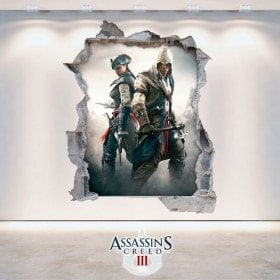 Vinyle et autocollants 3D Assassin Creed 3