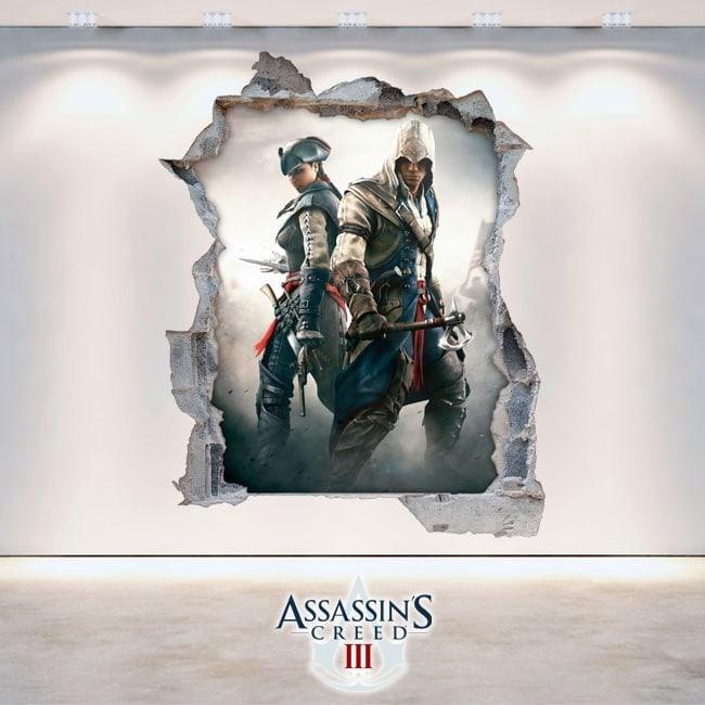 Vinyle et autocollants 3D Assassin Creed 3