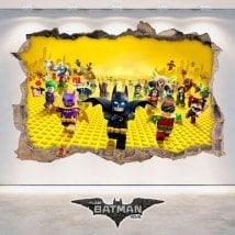 Décoratif vinyl 3D Batman Lego