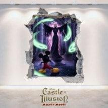Castle Of Illusion 3D pour enfants en vinyle décoratif