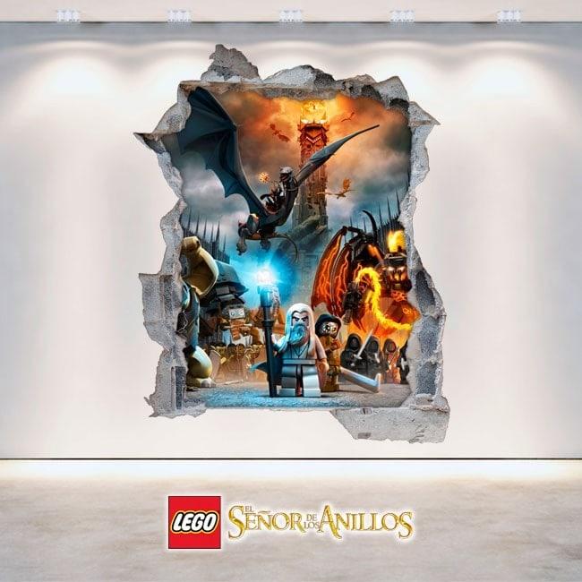 Décoratif vinyl 3D Seigneur des anneaux Lego