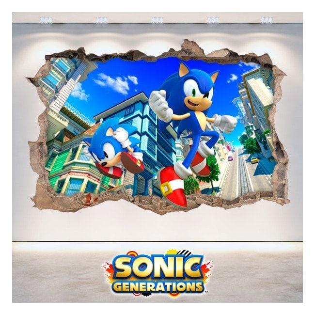 Décoratif vinyl 3D Sonic générations