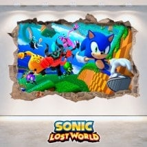 Décoratif vinyl 3D Sonic Lost World