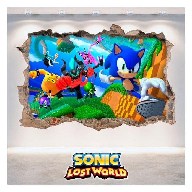 Décoratif vinyl 3D Sonic Lost World
