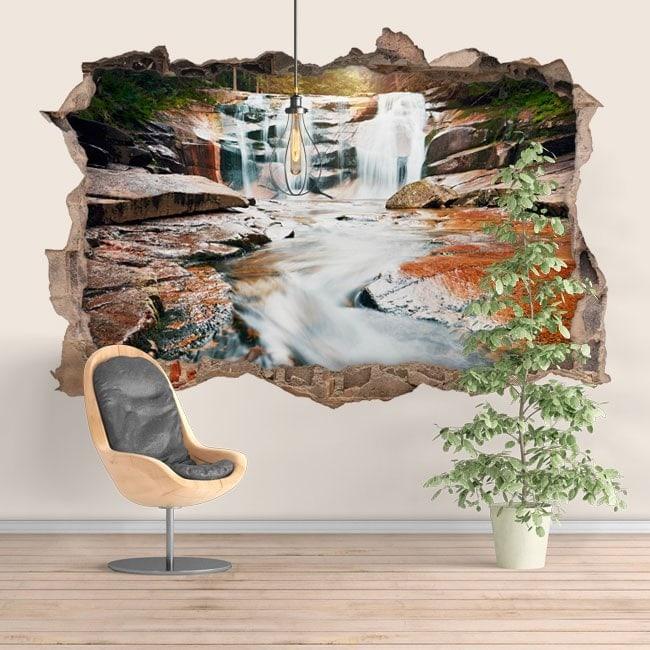 Montagne de Cascades décoratif vinyl 3D