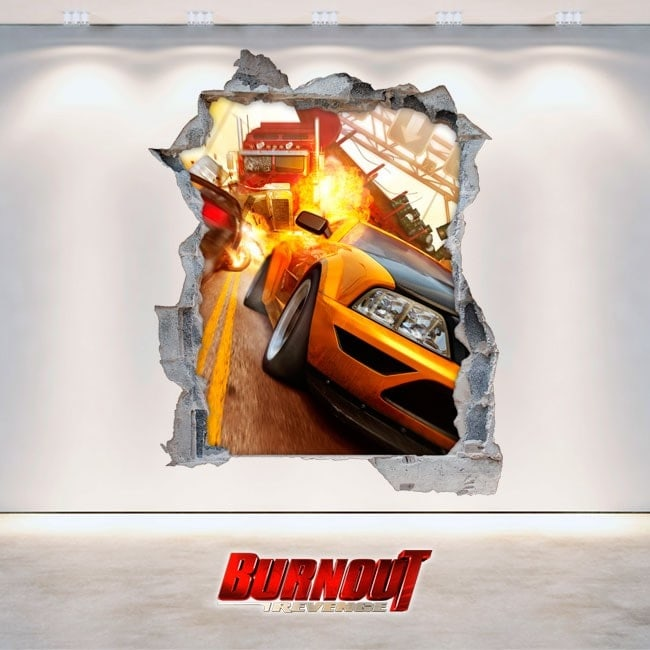 Vinyle jeux vidéo 3D de Burnout Revenge
