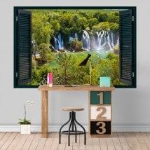 Nature de cascades vinyl Windows 3D