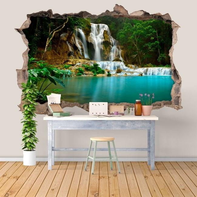 Nature des cascades vinyl 3D