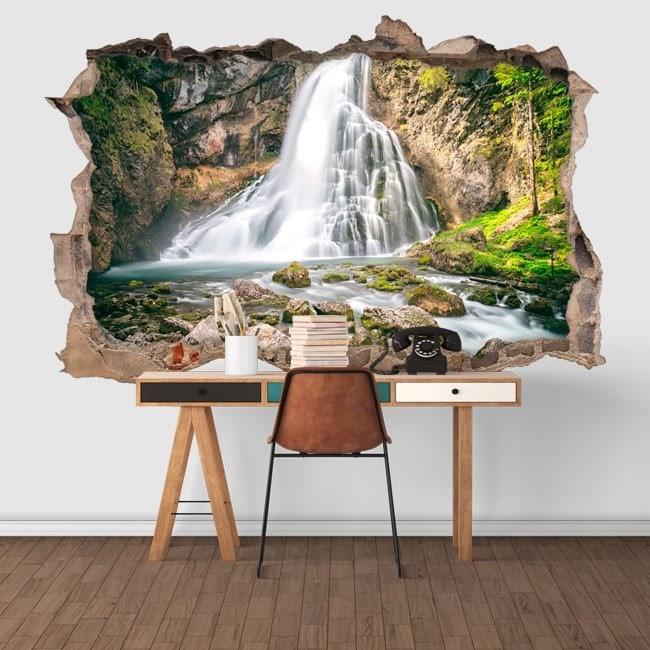 Montagne 3D cascades vinyle décoratif