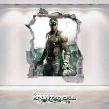 Splinter Cell Blacklist de décoratif vinyl 3D Tom Clancy