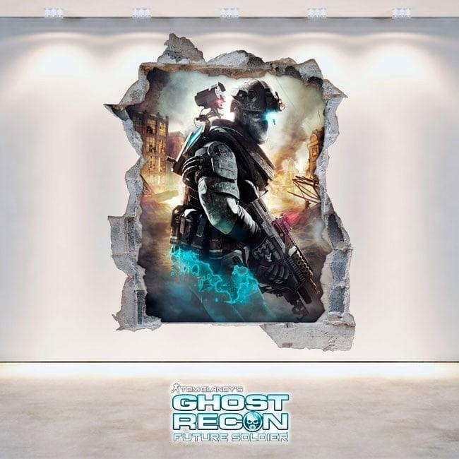 Ghost Recon Future Soldier de décoratif vinyl 3D Tom Clancy