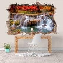 Autocollants et vynils nature cascades 3D