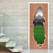 Vinyle pour terrain de soccer de portes