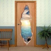 Portes de mer coucher 3D pour vinyles
