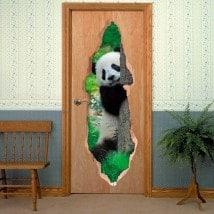 Ours de portes vinyle Panda 3D
