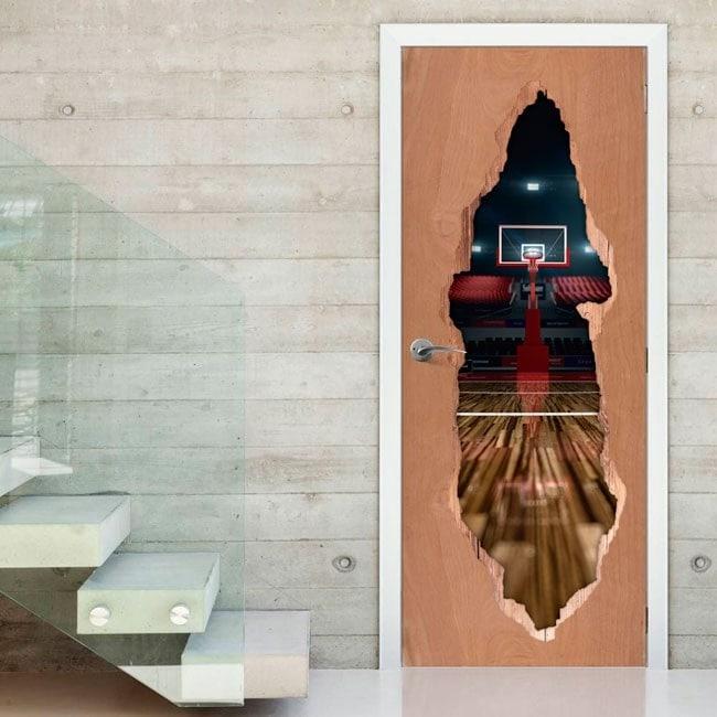 Vinyle pour le basket-ball Gates court 3D