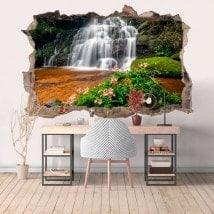 Nature et cascades 3D décoratifs de vinyle
