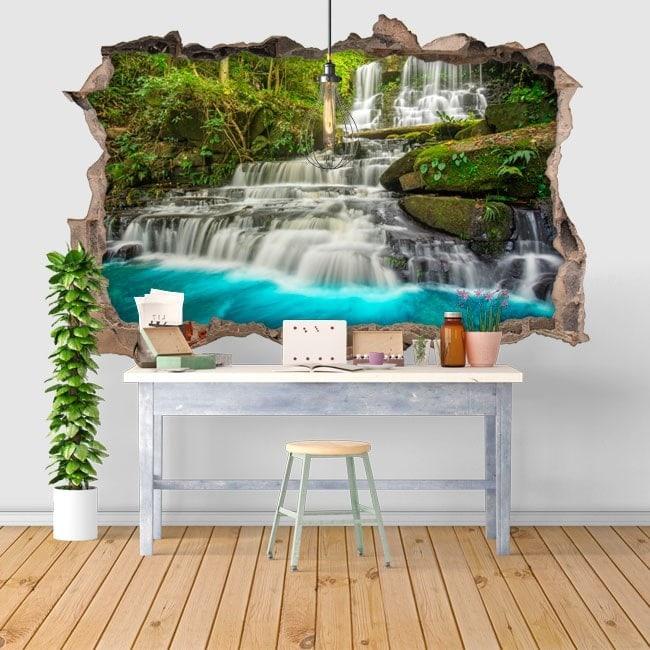 Chutes d'eau décoratifs vinyl 3D nature