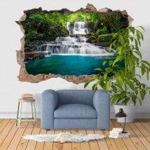 Nature 3D cascades vinyle décoratif
