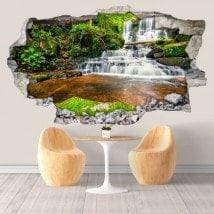 Chutes d'eau décoratifs vinyle en Thaïlande 3D