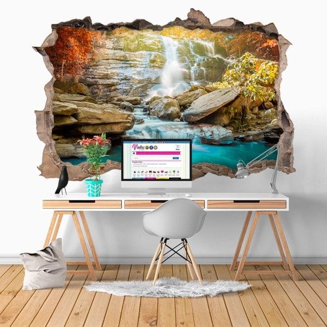 Chutes d'eau décoratifs vinyl 3D