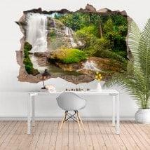 Les chutes d'eau 3D de vinyle décoratif Thaïlande
