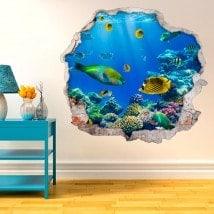 Pêcher dans le vinyle décoratif 3D mer