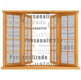 Fenêtres en vinyle personnalisé 3D