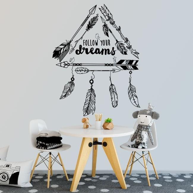Vinyle décoratif phrases Follow Your Dreams