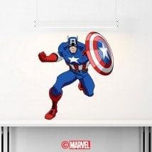 Décoratif vinyl Captain America