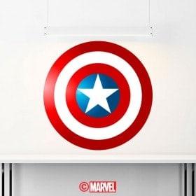 Bouclier décoratif vinyl Captain America
