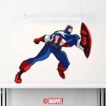 Autocollants et vinyle Captain America
