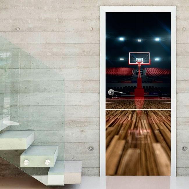 Basket-ball de Cour portes vinyle décoratif