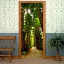 Moyen de porte décoratif vinyl de séquoias