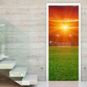 Terrain de soccer de porte décoratif vinyl