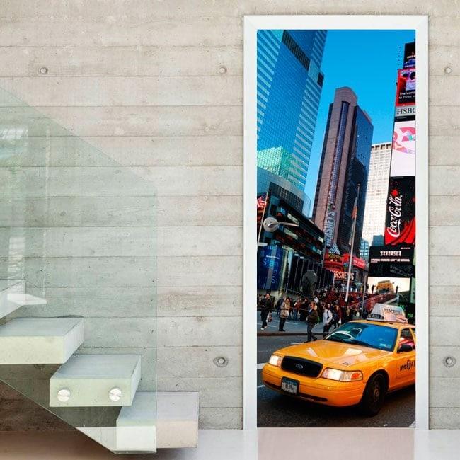 Vinyle pour les portes de la ville de New York