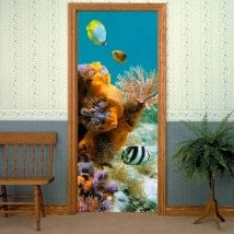 Monde marin de portes vinyle décoratif