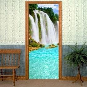 Vinyles décoratifs pour portes de Cascades