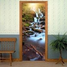 Nature de cascades portes vinyle