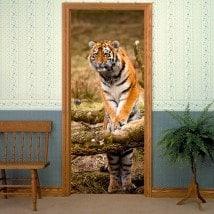 Décoratif vinyl portes tigre de Sibérie