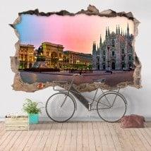 Vinyl 3D cathédrale Duomo Milan Italie