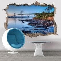 Pont de Newport 3D de vinyle