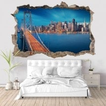 Pont 3D vinyle baie de San Francisco