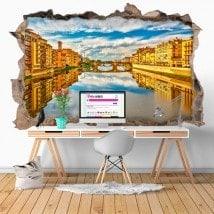 Vinyl 3D rivière Arno Florence Italie